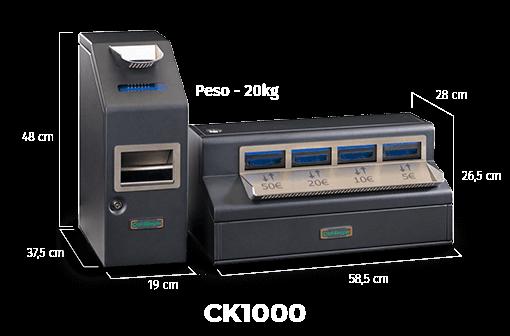 ck1000 medidas del cajón efectivo - securetpv