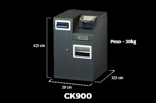 ck900 securetpv medidas del cajón